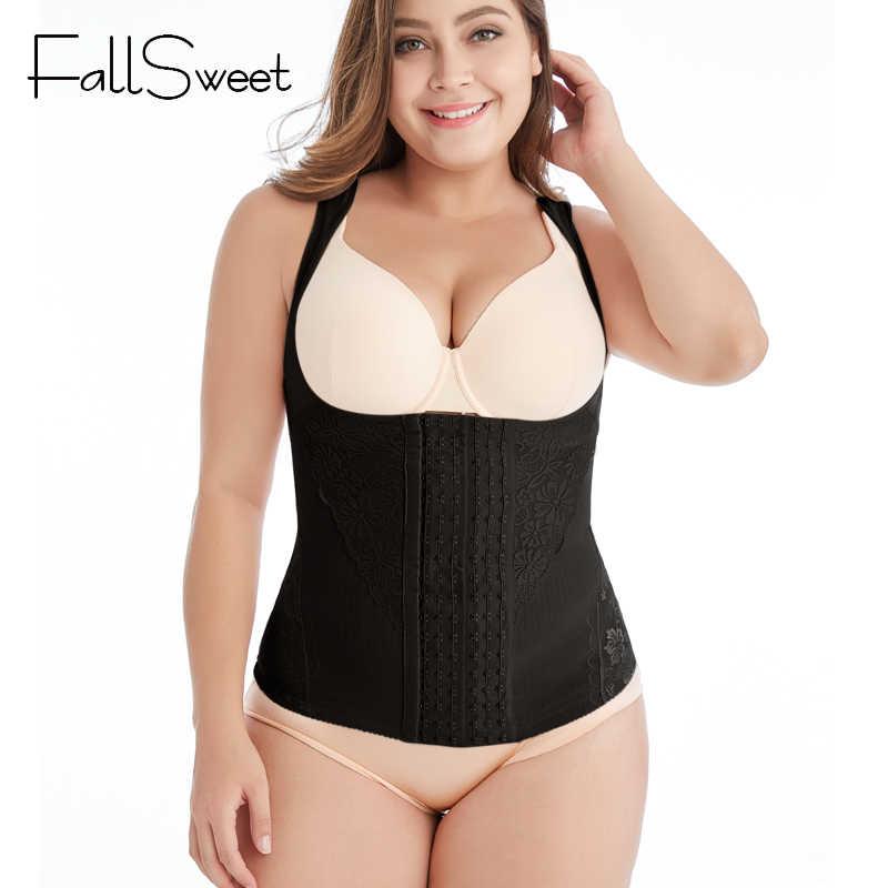 Женский корректирующий корсет FallSweet, фитнес-корсет для талии, утягивающее белье для похудения, размеры от S до 4XL 5XL 6XL
