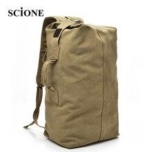 Scione große kapazität rucksack multifunktionale reisetaschen unisex leinwand rucksäcke hohe qualität casual rucksack nn012