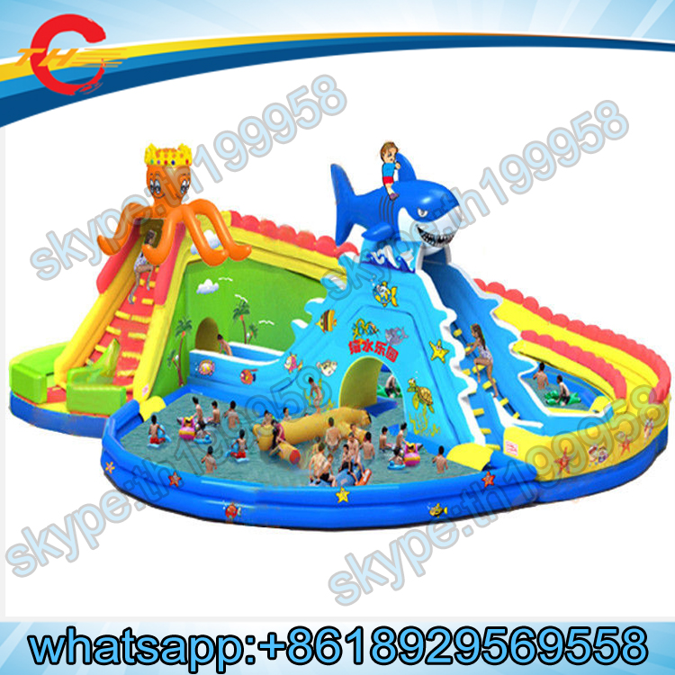 Giant inflatable water slide with pool for adult inflatable playground inflatable amusement park - Accessoire gonflable pour piscine ...