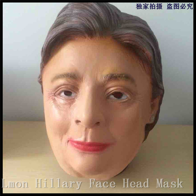 US $21 38 7% OFF|Free Shipping US President Candidate Hillary Clinton Latex  Mask For Fan All Party Famous Lawyers Politicians Hillary Diane Masks-in