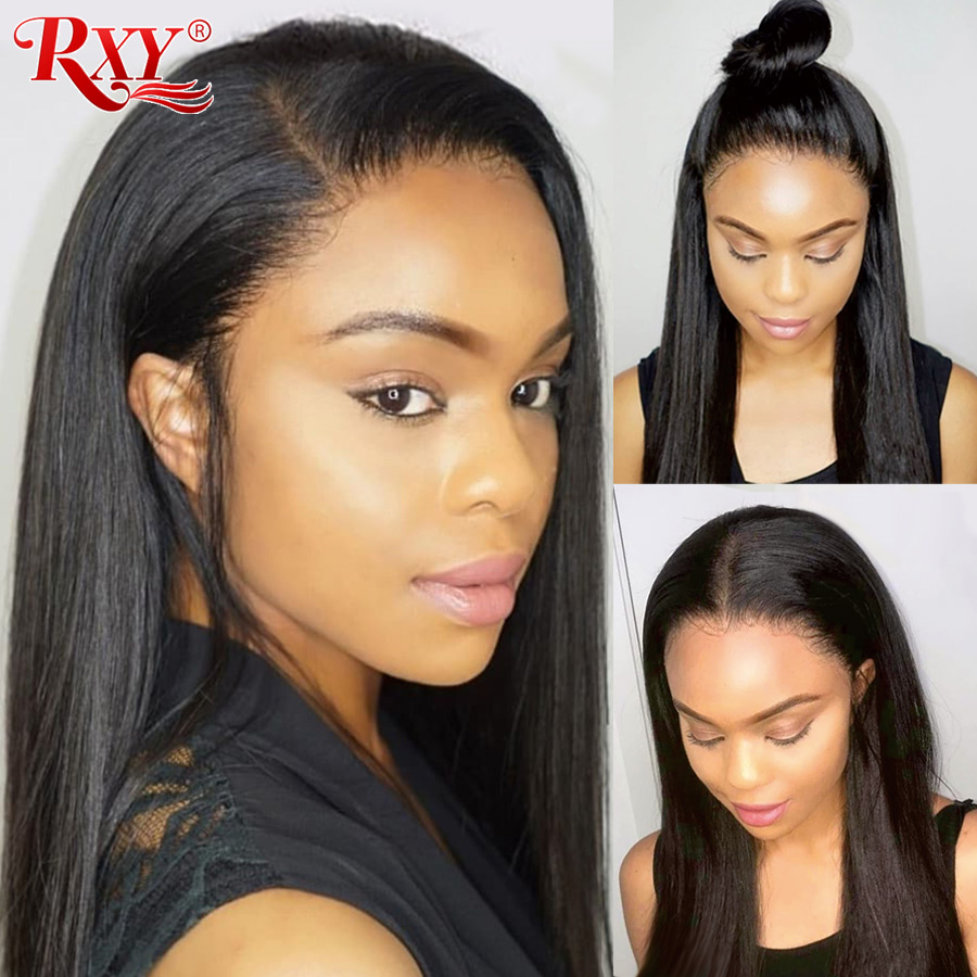 RXY Lace Front Human Hair Wigs For Black Women 13x4 Straight Lace Front Wigs With Baby