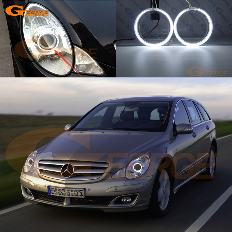 For Mercedes Benz R320 R350 R500 R63 06 07 08 09 10 headlight Excellent Ultra bright illumination CCFL Angel Eyes kit Halo Ring