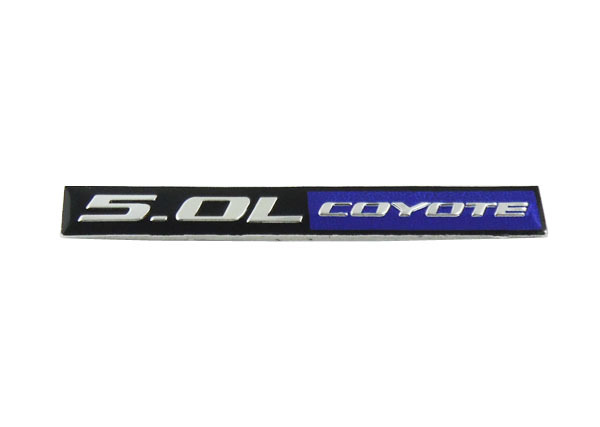 Aluminum Auto car 5.0L COYOTE for MUSTANG GT ENGINE Emblem Badge Sticker