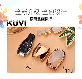 Hight quality PC+TPU key case cover Key case protective shell holder for Mercedes benz A B R G Class GLK GLA w204 W251 W463 W176