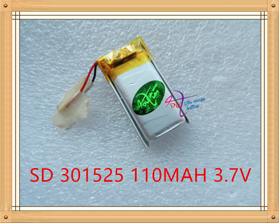 Liter energy battery 3.7V lithium Tablet polymer battery <font><b>301525</b></font> 3.7V 110MAH Bluetooth headset steelmate genuine small toys image
