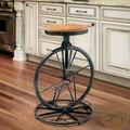 Loft style industrial muebles, barra de hierro forjado sillas sillas de bar de madera la rotación de elevación europeo taburete de la barra