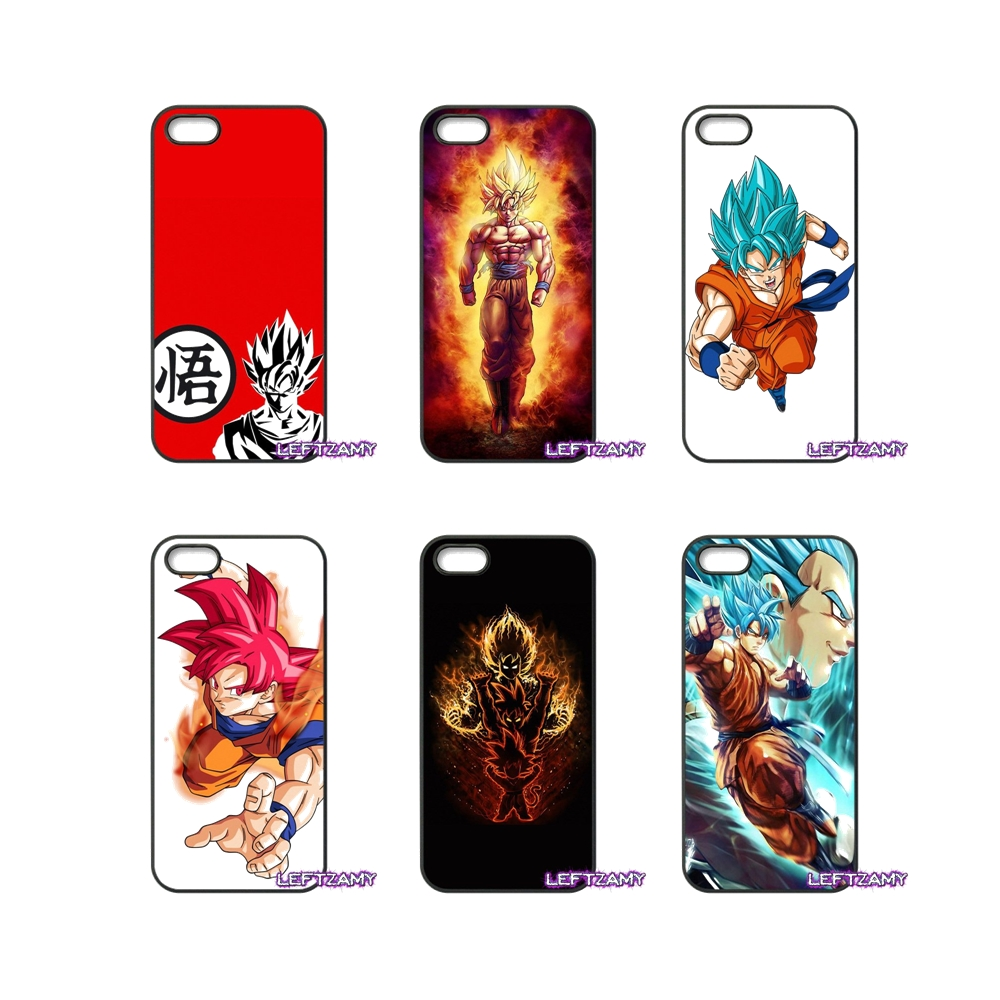 Dragonball Z Goku Fire Hard Phone Case Cover For iPhone 4 4S 5 5C SE 6 6S 7 8 Plus X 4.7 5.5 iPod Touch 4 5 6