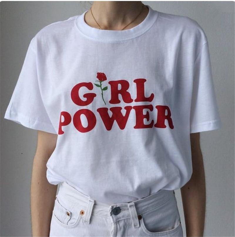 HTB1cS36QXXXXXXgaFXXq6xXFXXXc - Girl Power Tshirt Feminism Tee Shirt Unisex Cotton JKP269