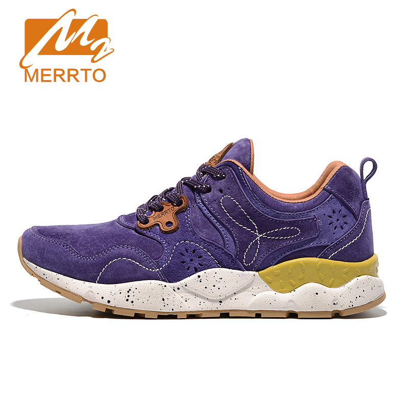 MERRTO Skidproof Woman Hiking Trekking Shoes Breathable Leather Sports Sneakers Athletic Outdoor Sports Shoes Woman Climbing tfo women climbing breathable trekking hiking shoes woman outdoor athletic waterproof mountain sports sneakers 844543