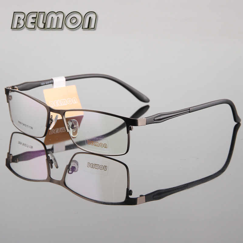 Belmon Eyeglasses Frame Men Nerd Computer Optical Prescription Clear Lens Glasses Spectacle Frame For Male Eyewear RS193