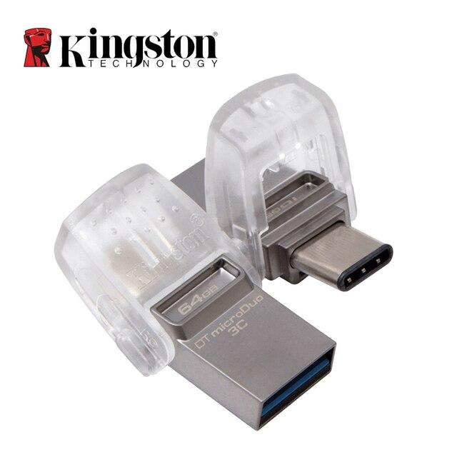Kingston unidad Flash USB 3,1 tipo C para PC y teléfono, memoria USB 3,0 de 64GB, 32GB, 16GB, con puerto tipo C