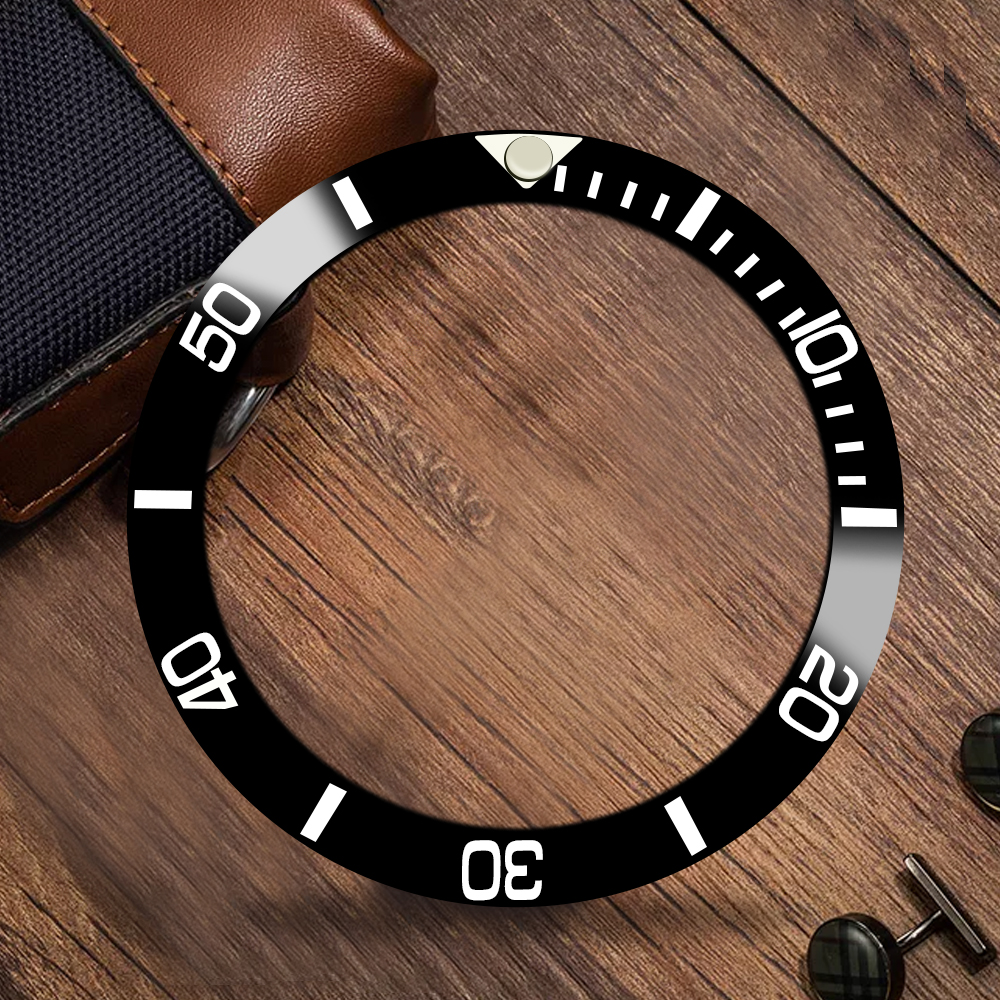 Watches Spare Parts, 38 Mm Black Ceramic Bezel Suitable For 40 Mm Sub Automatic Watch