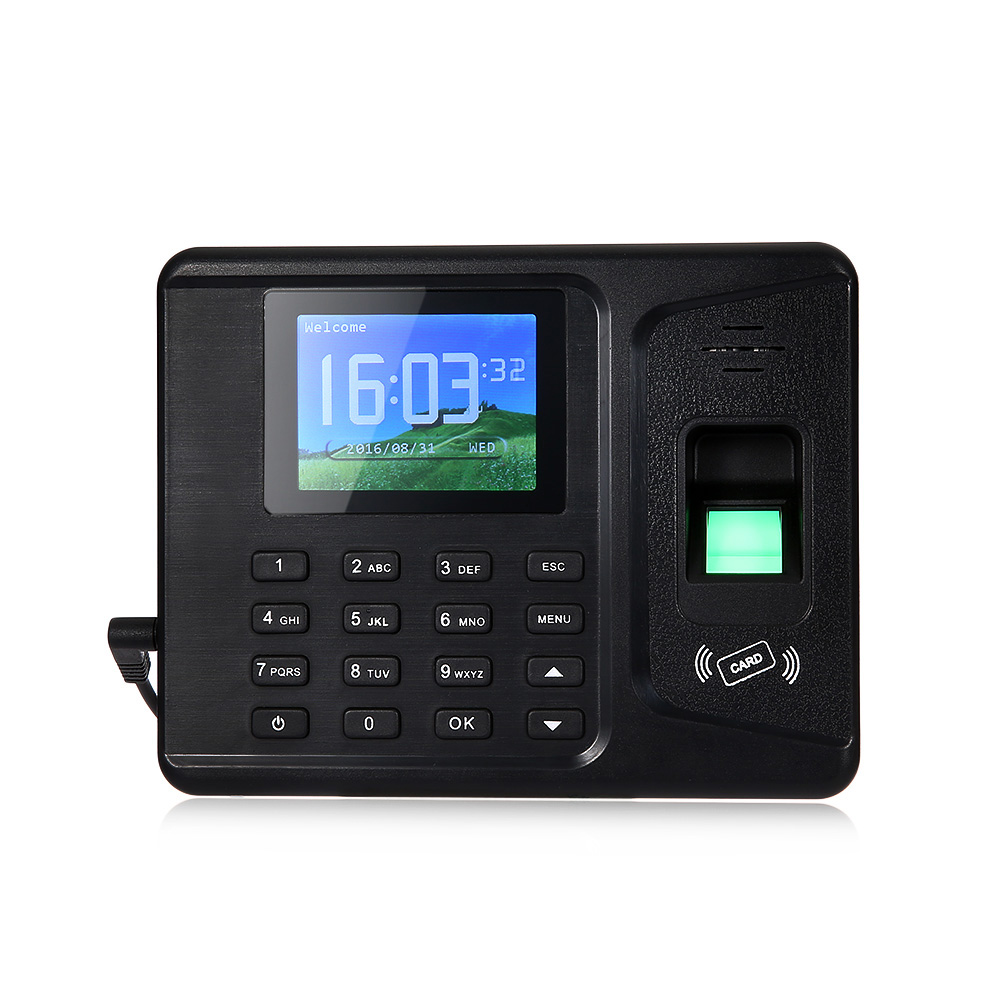 REALAND A-F261 Fingerprint Time Attendance Machine Identification TCP Checking Recorder biometric face and fingerprint access controller tcp ip zk multibio700 facial time attendance and door security control system