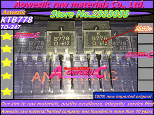Image 2 - Aoweziic 100% الجديدة المستوردة الأصلي KTB778 KTD998 TO 3PF الصوت السلطة مكبر للصوت B778 D998 الطاقة الترانزستور 2SB778 2SD998