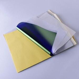 Image 5 - 10Pcs גיליונות קעקוע מכונת צילום העברת נייר רוח סטנסיל פחמן תרמית התחקות גוף אמנות מתאר ערכת A4 יופי אבזרים