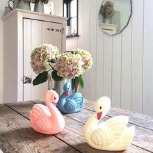 FENGLAIYI Pretty Cute Swan Cartoon Animal LED Night Light Baby Sleeping Lights Home Desk Lamp Art Decoration Led of Best Gifts