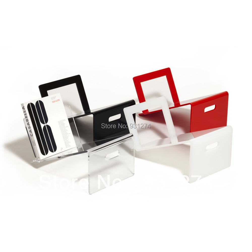 newspaper rack for office. 2 pieces lot acrylic storage magazine book rack holder newspaper brochure office for