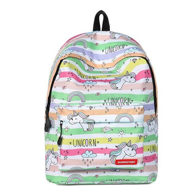 6f4cabc2fca7 Harajuku Women Unicorn Rainbow Backpack Fantasy Bag School Student Travel  Bags for Teens Girls Cute Cartoon Kawaii Daypack