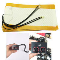 2pcs/1 seatinstalled car seat heater carbon fiber heated pads seat warmer for RAND Cool Road Ze double control heating switch