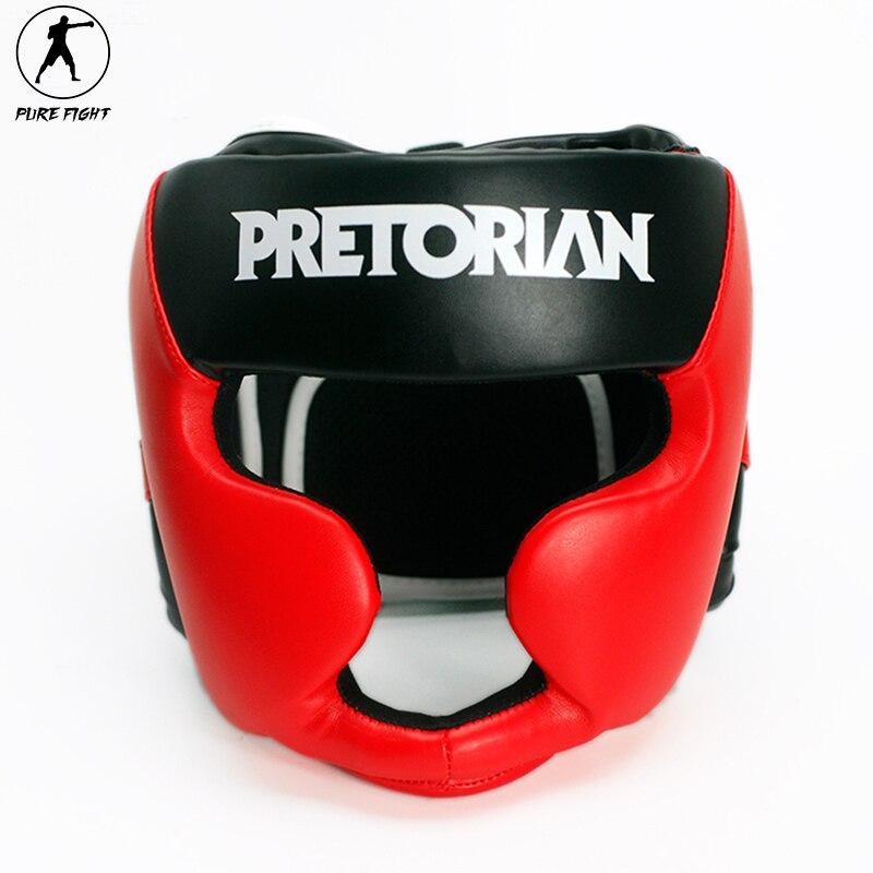 Prix pour Marque PRETORIAN Boxe Tête Garde Muay Thai Boxe Coiffures Hommes Femmes Formation Sparring TKD Remise En Forme Sûr Octroi De Boxe Casque