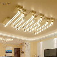 Homelover New Acrylic Modern Led Ceiling Lights For Living Study Room Bedroom Lamp Plafond Avize Indoor