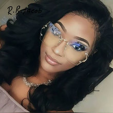 2017 New Rimless Gradient Clear Sunglasses Women Transparent Brand Designer Lady Female Sun glasses UV400 Metal Frame Oversized
