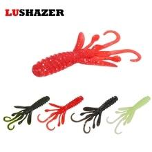 6pcs/lot LUSHAZER fishing lures 4.5g 85mm shrimp soft bait carp fishing jerkbait soft plastic lures camarao isca artificial