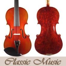No.339.Bird Eyes Stradivarius Violin,Beautiful One-Piece Back, Sweet Sound, Handmade Oil Varnish,Spruce Wood