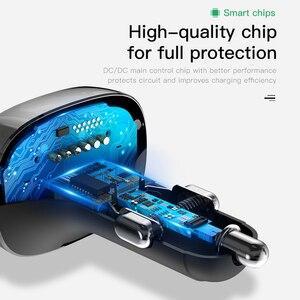 Image 5 - Baseus سيارة شاحن آيفون الهاتف المحمول يدوي FM الارسال بلوتوث سيارة عدة LCD مشغل MP3 المزدوج USB سيارة شاحن الهاتف