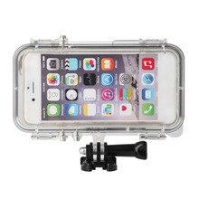 Супер Водонепроницаемый спортивные телефон случаях Обложка 170 градусов широкоугольный объектив для iPhone 6 и 6S встроенный дольше для GoPro адаптер
