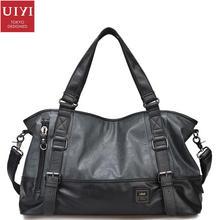 Uiyi design männer pu-leder tote handtasche messenger crossbody bag männliche große vielseitig laptop umhängetaschen 15,6 zoll 130221