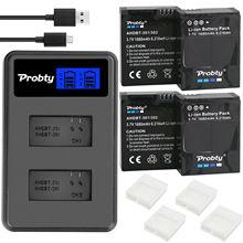 Пробти для GoPro hero 3 hero 3+ hero 3 hero 3+ батарея+ ЖК двойное зарядное устройство для go pro AHDBT-301 аксессуары для экшн-камеры