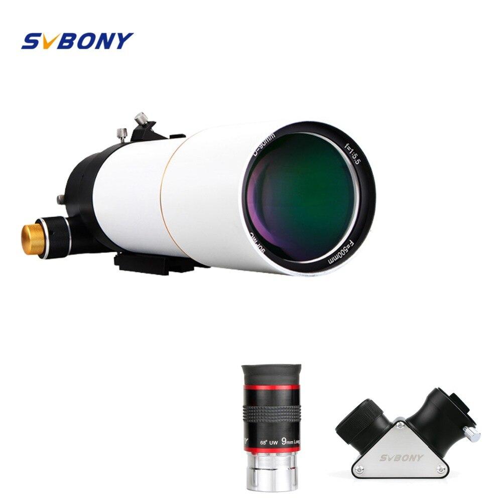 SVBONY SV20 SV48 80/90mm Compact Lunette Astronomique Télescope L'astronomie Monoculaire Optique Tube L'imagerie Clair Guide Star - 2