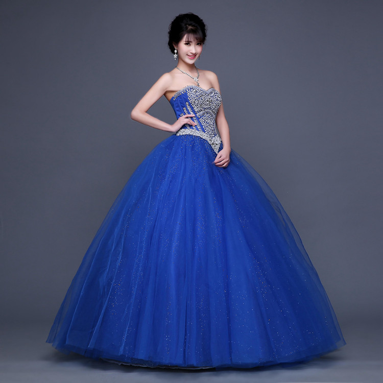 Aliexpress.com : Buy High Fashion Royal Blue Quinceanera Dresses ...