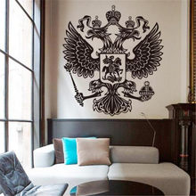 Art Design Home Decoration Vinyl Russian Energy Eagle Wall Sticker Removable House Decor Country Animal Beautiful Decals(China)
