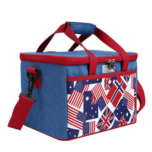 Cooler Bag ice lunch bags lunch cooler bag picnic bag big  Hot canvas Picnic Basket Zip shoulder for outdoor camping travel