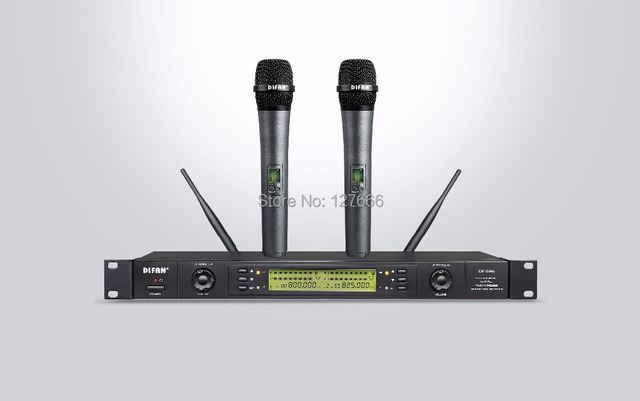 DIFAN  DF-326 - 10 years famours brand  DUAL CHANNEL Wireless Microphone System INFRARED OF FREQUENCY, 200 FREQUENCY UR4D UR24D