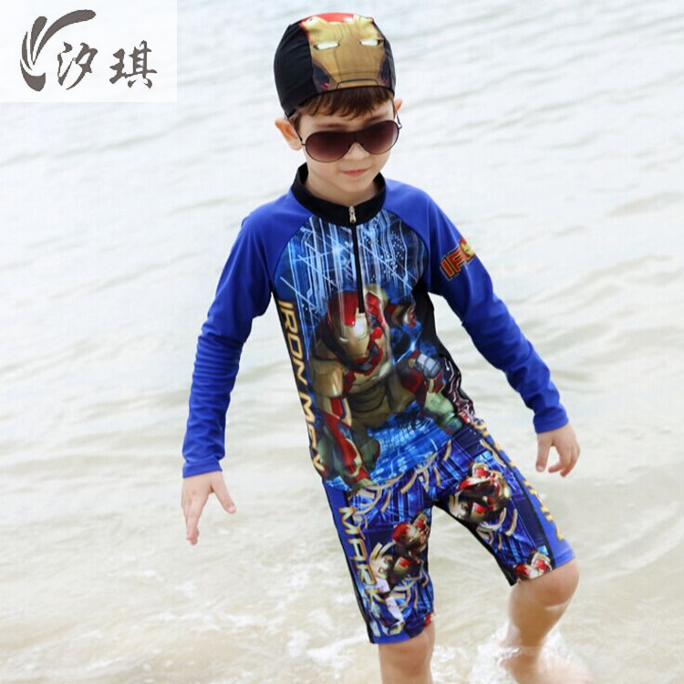 Xiqi Swimsuit Fused Trunks For Baby Boy Clothes Summer 2017 Long Sleeve Swimsuit For Kids Boys ...