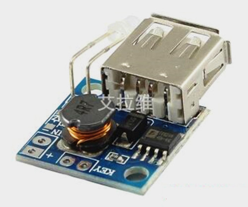 Free Shipping!!! Mobile Power Boost Board / DC-DC 3V 3.7V 5V 2A USB Output / Charge Indicator
