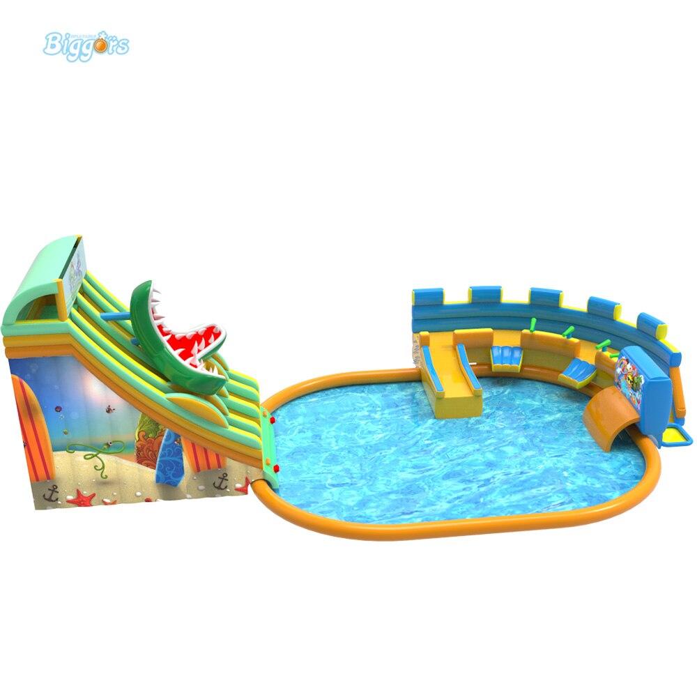 Открытый развлечения надувные аквапарк игрушки слайд бассейн