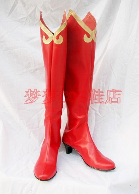 Phoenix Wright Ace Attorney Miles Edgeworth font b cosplay b font costume boots lolita punk shoes