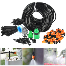 25m Water Hose 4/7mm Micro Drip Irrigation System Adjustable Drippers Nozzles Garden Watering Sprayer Sprinkler for Greenhouse