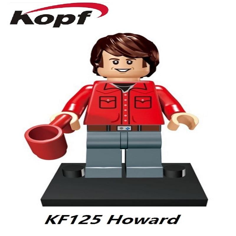 Одной продажи Теория большого взрыва TBBT фильм Howard Пенни цифры строительные Конструкторы Игрушечные лошадки для детей подарок действие kf125