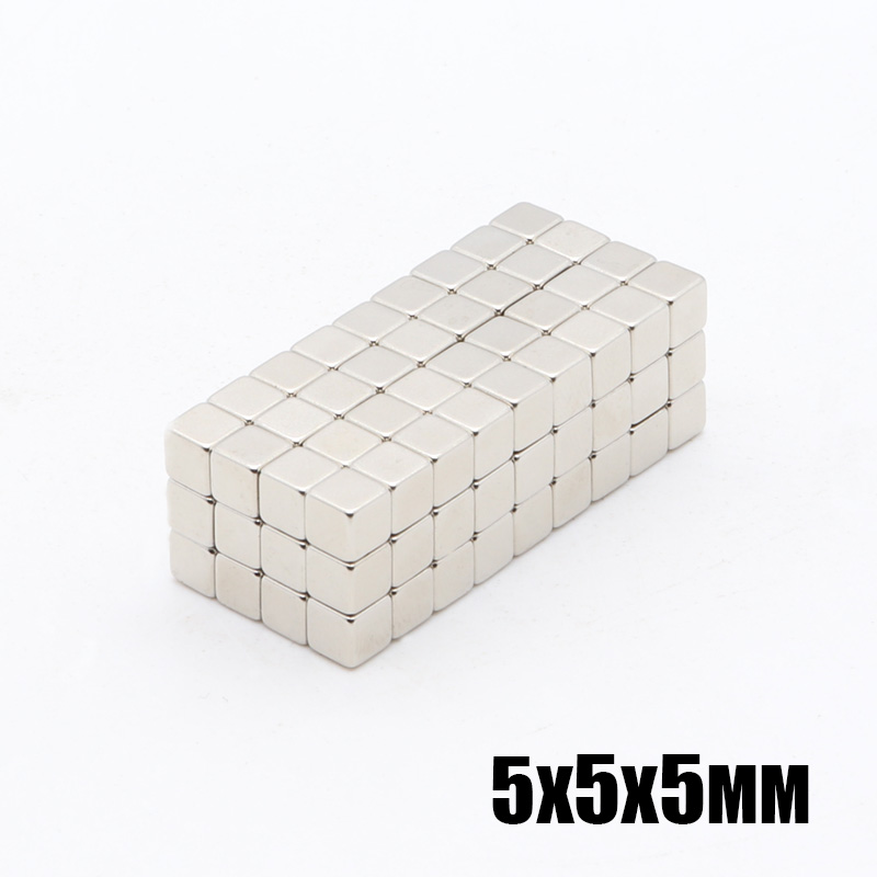 500Pcs <font><b>5x5x5</b></font> mm <font><b>Neodymium</b></font> <font><b>Magnet</b></font> Cube 5mm N35 Permanent NdFeB Super Strong Powerful Magnetic <font><b>Magnets</b></font> Square Buck Cube 5*5*5 mm image