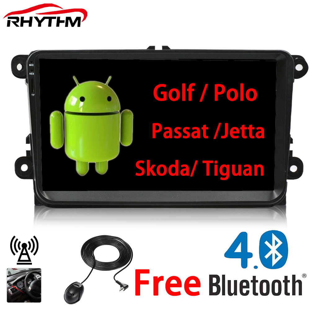Rhythm 2 din Android 6.0 Car radio for vw passat b7 b6 golf 5 polo tiguan octavia rapid fabia with gps navigation radio player isudar car multimedia player automotivo gps autoradio 2 din for skoda octavia fabia rapid yeti superb vw seat car dvd player