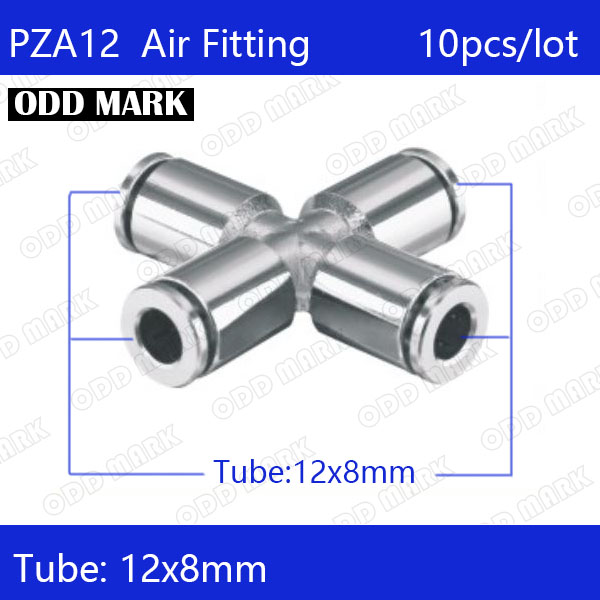 Free shipping 6pcs/lot 12mm , PZA12,304 Stainless Steel Straight Push Connector 6pcs lot free