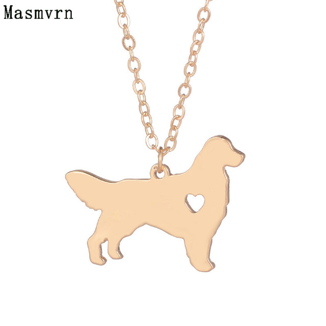 Fashion Golden Retriever Necklace Choker Pendant Animal Dogs Breed Charm Pet Necklaces Memorial Gift For Men Women Bijoux
