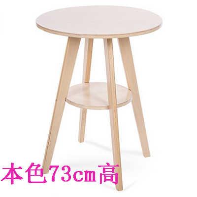 Европейский стиль простой твердой древесины небольшой барный стол кофе маленький бытовой круглый барный стол