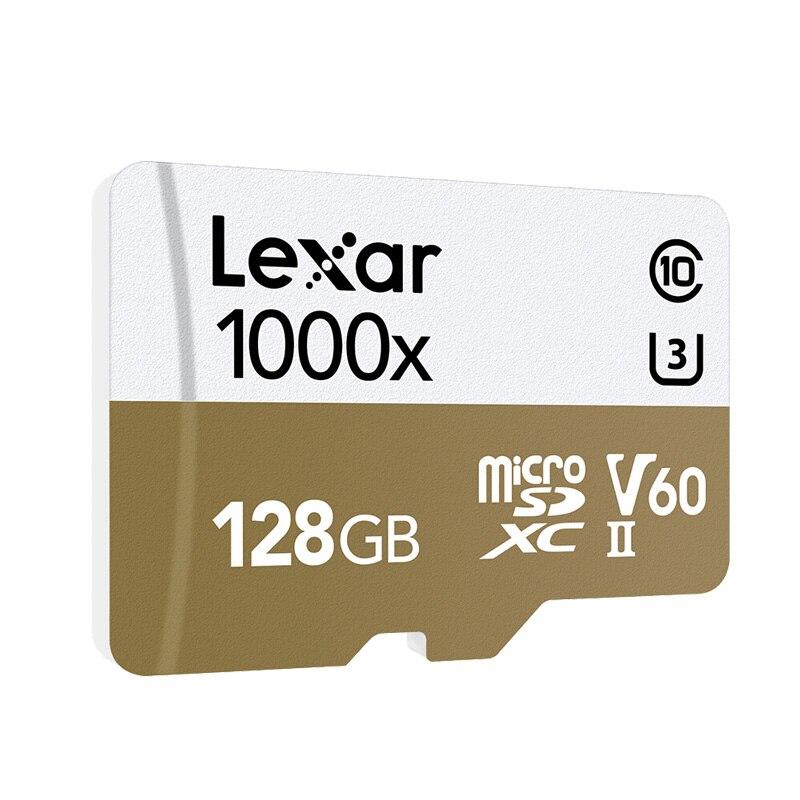 Image 3 - Оригинальный Lexar карты Micro SD карты 128 ГБ UHS II U3 Max 150 МБ/с. автомобиль TF карты флэш памяти класса 10 для беспилотная спортивная видеокамера-in Карты памяти from Компьютер и офис