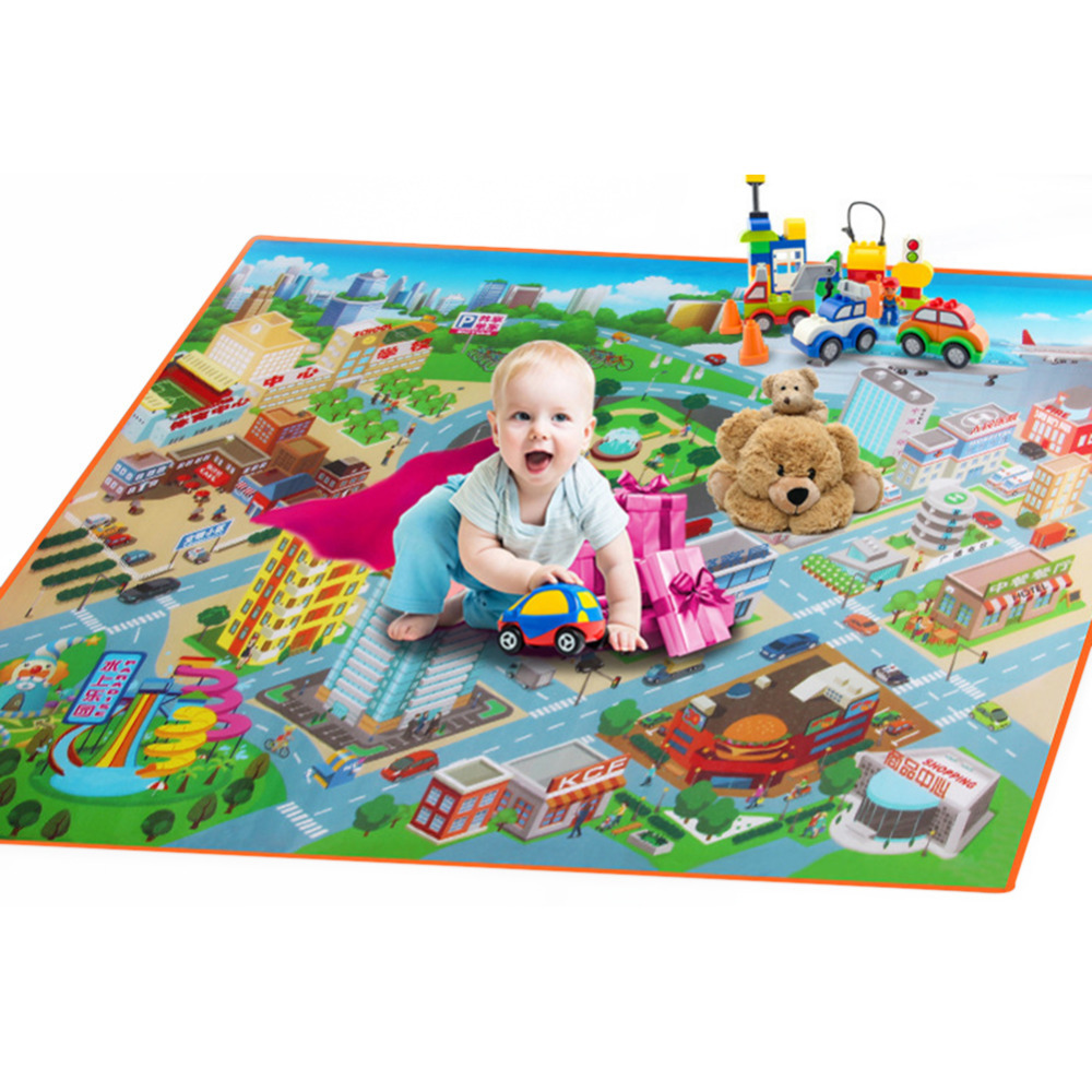 Baby Kids Route Map For Children Carpet Kids Toys Game Rug Crawling Pad 120cm W Baby